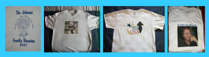 Photo t-shirts samples picture